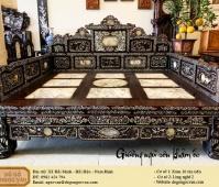 Giường ngũ sơn khảm ốc